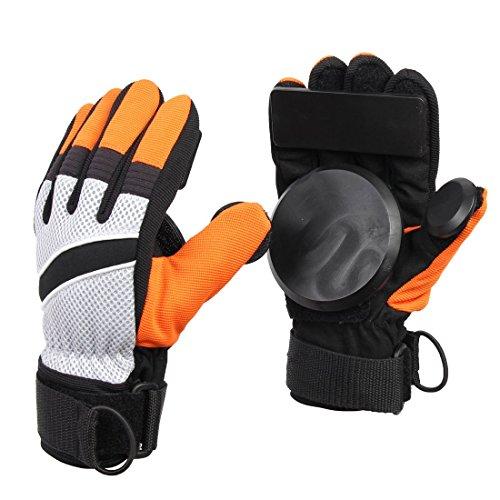 Andux Zone Erwachsene Freeride Grip Slid Skateboard Handschuhe mit Foam Palm HBST-04 (orange, M)