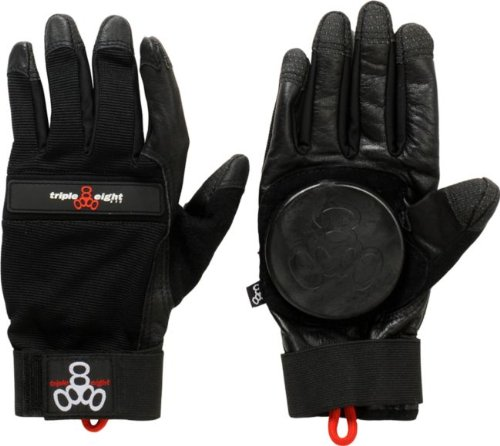 Triple Eight Longboard Downhill Slide Glove [Small/Medium] Black