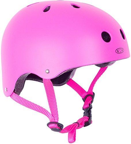 WORKER Skaterhelm Neonik pink Gr. 49-53, 53-56, 56-59, 59-62 cm verstellbar (S 53-56 cm)