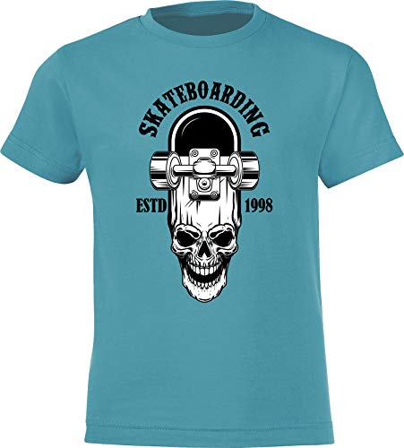 Kinder Skateboard T-Shirt: Skateboarding Estd. 1998 – Skaten Skater Skaters Board – Shirt für Jungen Junge & Mädchen Geschenk-Idee zum Geburtstag für Kind Kinder Birthday Sport (152/164)