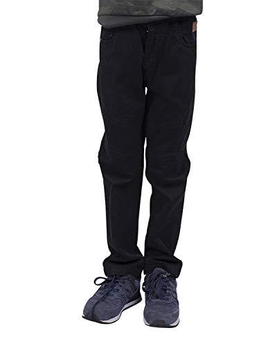 Longboard Jungen Hose schwarz mit Ziernähten Gr. 38 cm, Schwarz
