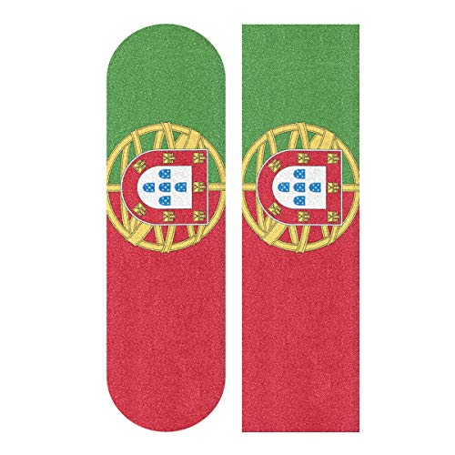All3DPrint Griptape für Skateboards/Longboards mit Portugal Flagge, 22,9 x 83,8 cm